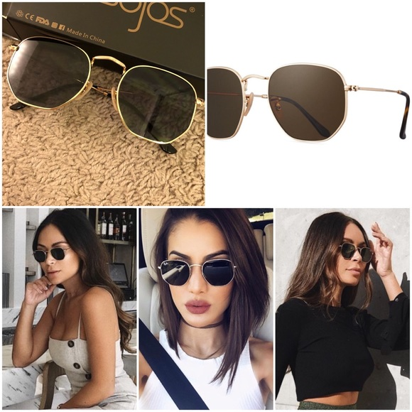 1d436be58afd Sojos Accessories | Raybandupe Hexagonal Flat Lenses | Poshmark